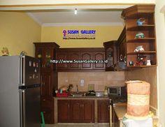 Kitchen Set Minimalis Jati Model Kombinasi - Pusat Mebel Depok menjual berbagai macam mebel jati perhutani berkualitas tinggi dan bergaransi service 3 tahun