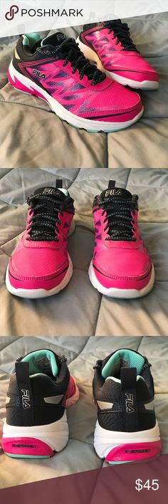 💗FILA Shoes🖤 Size 8.5, new w/ tags inside on Sole. Pink, purple, blue, teal & white in color. Soles are made up of COOL MAX, memory advanced foam, extremely light in weight & comfortable!! 🖤💗 Fila Shoes