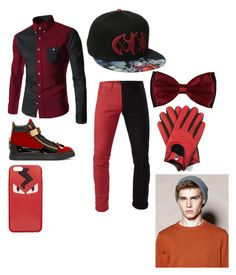 """(Genderbend!) Harley Quinn"" by pipergrace93 on Polyvore featuring 3x1, Giuseppe Zanotti, Barneys New York, Fendi, Dents, mens, men, men's wear, mens wear and male"
