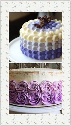 Purple ombre petal cake! LOVE!