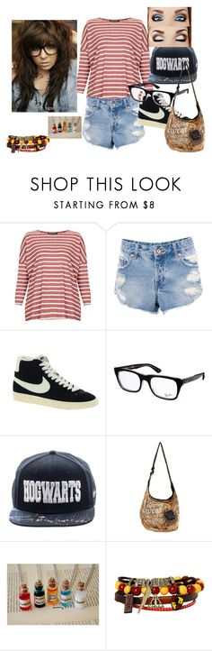 """Style 21"" by ashley-ploog on Polyvore featuring Topshop, Pull&Bear, NIKE and Ray-Ban"