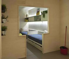 Micro Apartments Freedom Rooms 1.....http://webecoist.momtastic.com/2013/07/22/micro-apartments-15-inspirational-tiny-spaces/