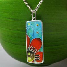 Flor - cloisonne enamel necklace