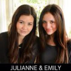 The 14 year old inventors/makers of Emi Jay hair ties.