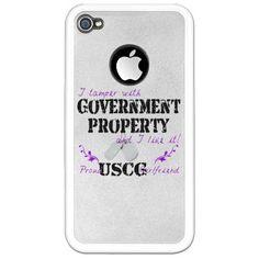 Tamper w Gov Property USCG Girlfriend iPhone Case