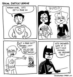 The Justice League doesn't always get along... Flash doesn't have his mother...