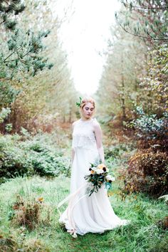 Bride in Autumn Forest | photography by http://www.melissabeattie.com