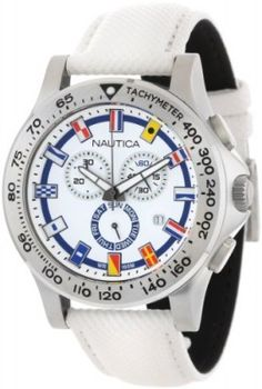 Relógio Nautica Men's N19598G NST 600 Chrono Flag Classic Analog with Enamel Bezel Watch #relogio #nautica