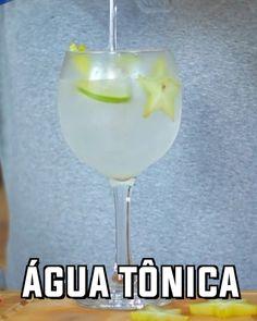 Gin tônica com carambola e limão. Gostou? Marca um amigo pra ver essa receita. #bebidaliberada #gin #gintonica #gintonic #ginlovers #ginlover #drink #drinks #coquetel #coquetelaria White Wine, Martini, Gin, Alcoholic Drinks, Tableware, Glass, Instagram, Food, Cocktail
