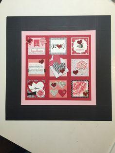 Valentine Sampler - Stampin' Up! Scrapbook Paper Crafts, Scrapbook Pages, Paper Crafting, Box Frame Art, Hello Life, Candy Cards, Frame Crafts, Valentine Decorations, Valentine Day Cards