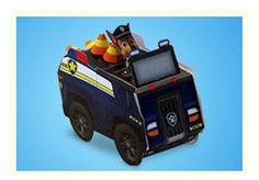 PAW Patrol fans can make their very own paper vehicle version of Chase's cop car with this cool craft!
