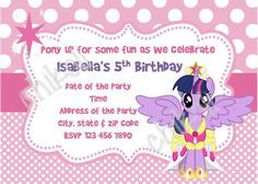 My Little Pony Invitation and thank you card  My little Pony