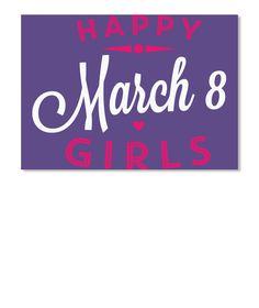 Women's Day T Shirts 2017 Purple Sticker Front