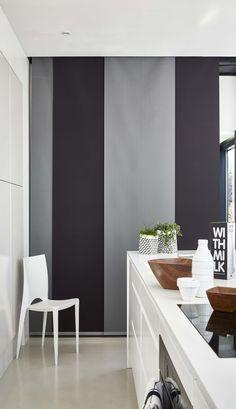 ambiance g om trique rideau en tissu ellipse gris. Black Bedroom Furniture Sets. Home Design Ideas