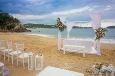 Hermoso gazebo, ideal para tu boda en playa. Bodas Huatulco.