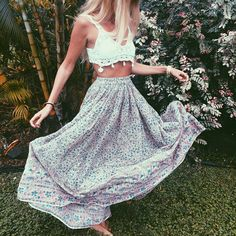 Skirt and top, love the colors