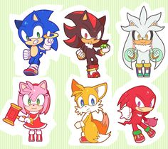Sonic, Shadow, Silver, Amy, Tails and Knuckles