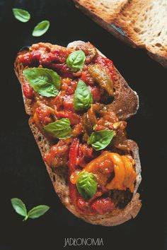 Peperonata » Jadłonomia Ratatouille, Food Inspiration, Cooking Recipes, Vegan, Ethnic Recipes, Burgers, Diet, Hamburgers, Hamburger