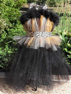 Cheetah Tutu Dress Costume $45