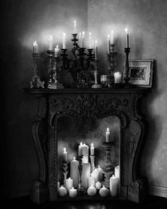 [ Candles Fireplace Gothic The Wedding Goth Party Good Times Black Project Fellowship ] - Best Free Home Design Idea & Inspiration Gothic Room, Gothic House, Victorian Gothic Decor, Gothic Interior, Interior And Exterior, Skull Deco, Goth Home Decor, Gothic Furniture, Gothic Horror