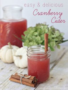 Easy & Delicious Cranberry Cider {Fall Progressive Dinner Party} - Love of Family & Home