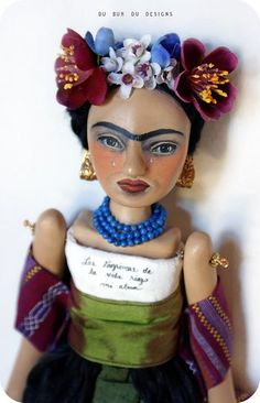 Art Doll Frida by Christine Alvarado(could I make this from one of those wooden artist models)