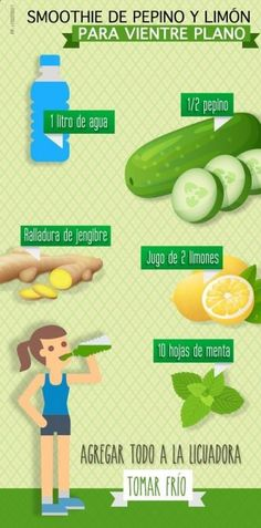 Cucumber and lemon smoothie for a flat stomach - Smoothies - Detox Healthy Detox, Healthy Juices, Healthy Smoothies, Healthy Drinks, Healthy Tips, Easy Detox, Healthy Food, Vegan Detox, Healthy Habits