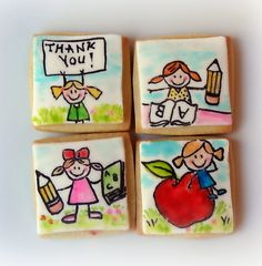end of school year cookies. Would use my edible markers for this one.