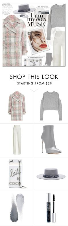 """""""Untitled #624"""" by beautifulplace ❤ liked on Polyvore featuring Closed, McQ by Alexander McQueen, Brandon Maxwell, Casadei, Lily Jean, Chanel, Eugenia Kim, Clé de Peau Beauté and Christian Dior"""