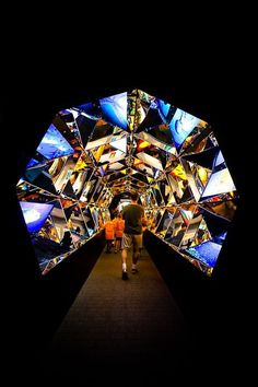 Immersive Kaleidoscope Tunnel Built Inside a Shipping Container Design Expo, Deco Design, Stage Design, Booth Design, Event Design, Exhibition Display, Exhibition Space, Museum Exhibition, Exhibition Ideas