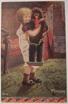 Child with Krampus doll