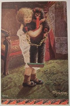 Child with Krampus doll