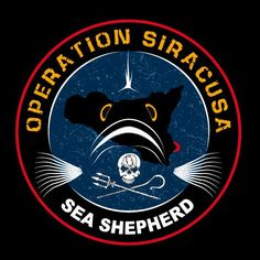 Operation Siracusa Sea Shepherd, Conservation, Patches, Hero, Stickers, Poster, Crafts, Bullet Journal, Stuff Stuff
