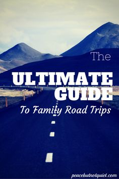 The Ultimate Guide to Family Road Trips -- advice, games, printables, snack ideas, even song playlists. Everything you need to make your next road trip with kids a success!
