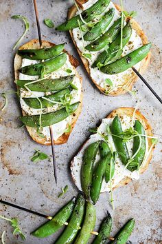 Grilled Snap Pea and