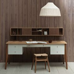 desk by pinch - love the wood and the white