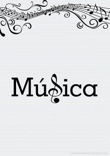 Capas para Caderno de Música e Instrumentos Musicais
