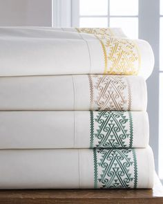 Shop luxury bed sheets at Horchow. Browse our selection of high thread-count sateen sheets, Egyptian cotton sheets, and more. Luxury Bed Sheets, Luxury Bedding Sets, Luxury Linens, Bedding Shop, Linen Bedding, Bed Linens, Gold Bedding, Egyptian Cotton Sheets, Fitted Bed Sheets