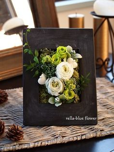"""""""New Year Preserved Petit Lesson Information """" Paper Flower Wall, Flower Wall Decor, Paper Flowers, Flower Frame, Flower Boxes, Flower Art, Cactus Flower, Deco Floral, Arte Floral"""