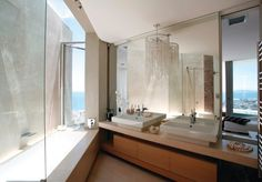SAOTA in collaboration with OKHA Interiors designed the La Grande Vue house in Cape Town, South Africa. This free form sculptural design comprising two Architecture Bathroom, Contemporary Decor, Diy Bathroom Decor, Contemporary House, House Bathroom, House, Modern Bathroom Decor, Bathroom Interior Design, Bathroom Design