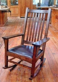 1861-Craftsman Rocking Chair Plans