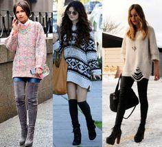 Moda elegantes Suéteres Grandes
