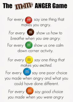 Living a RAD Life: M&Ms Feelings Activity