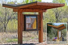 orientation kiosk with trail map and rules
