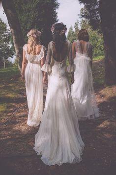 Bohemian style Bouret wedding dress; photo: Melissa Adams