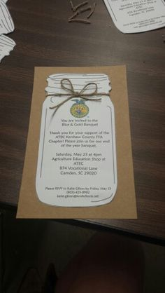 End of the year banquet invitations! #FFA