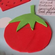 Tomato Puppet Craft Craft Ideas Vegetables Fruits Vegetable