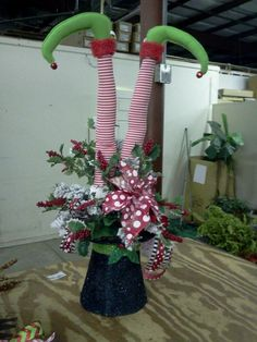 Elf legs - set of two $14.95 at http://quirksofart.storenvy.com/products/2840571-elf-leg-tree-pick-set-story