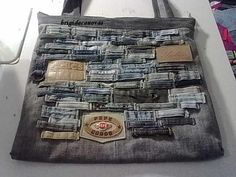 Jean bag with belt loops for decor....love it!