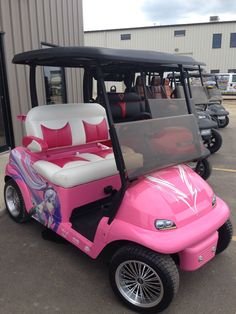 8 best Stylish Golf Cart Customizations images on Pinterest | Golf Put In Bay Golf Cart Barbie Mobile on